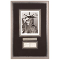 Statue of Liberty by Margaret Bourke-White, Limited Ed. Photo and Signed Card