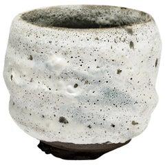 White Stoneware Ceramic Bowl by Lukas Richarz Modern Handmade Pottery