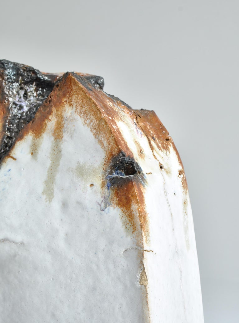 White Stoneware Sculpture by Ole Bjørn Krüger from Own Studio, Denmark, 1960s For Sale 6