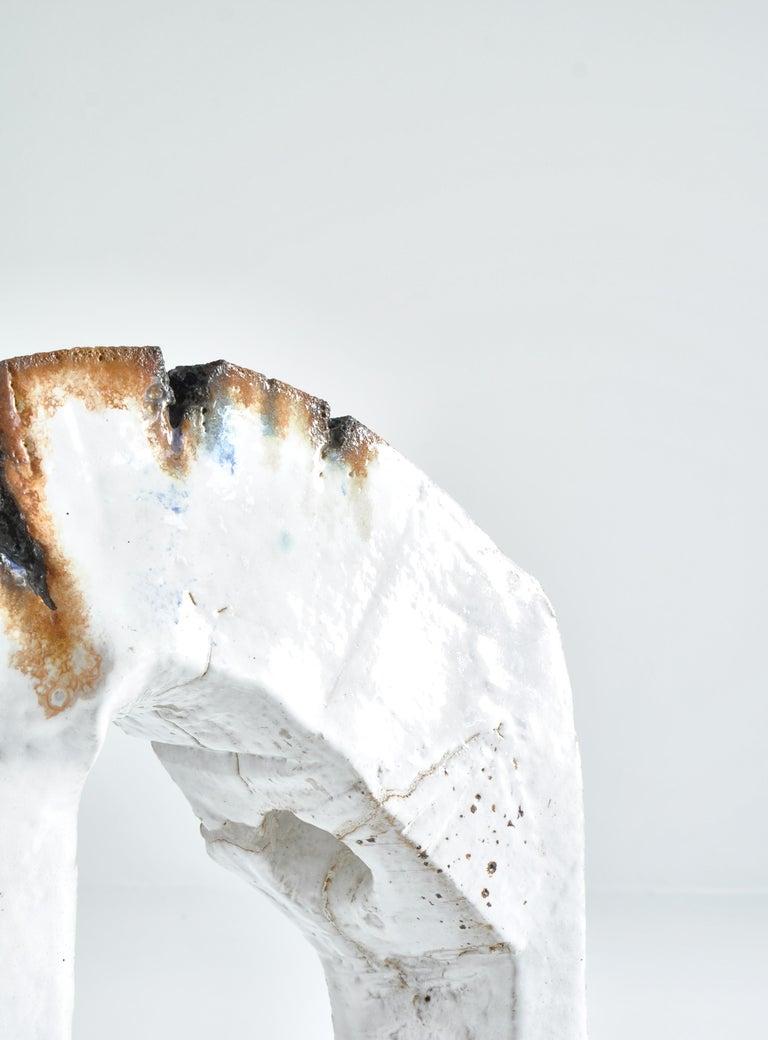 White Stoneware Sculpture by Ole Bjørn Krüger from Own Studio, Denmark, 1960s For Sale 7