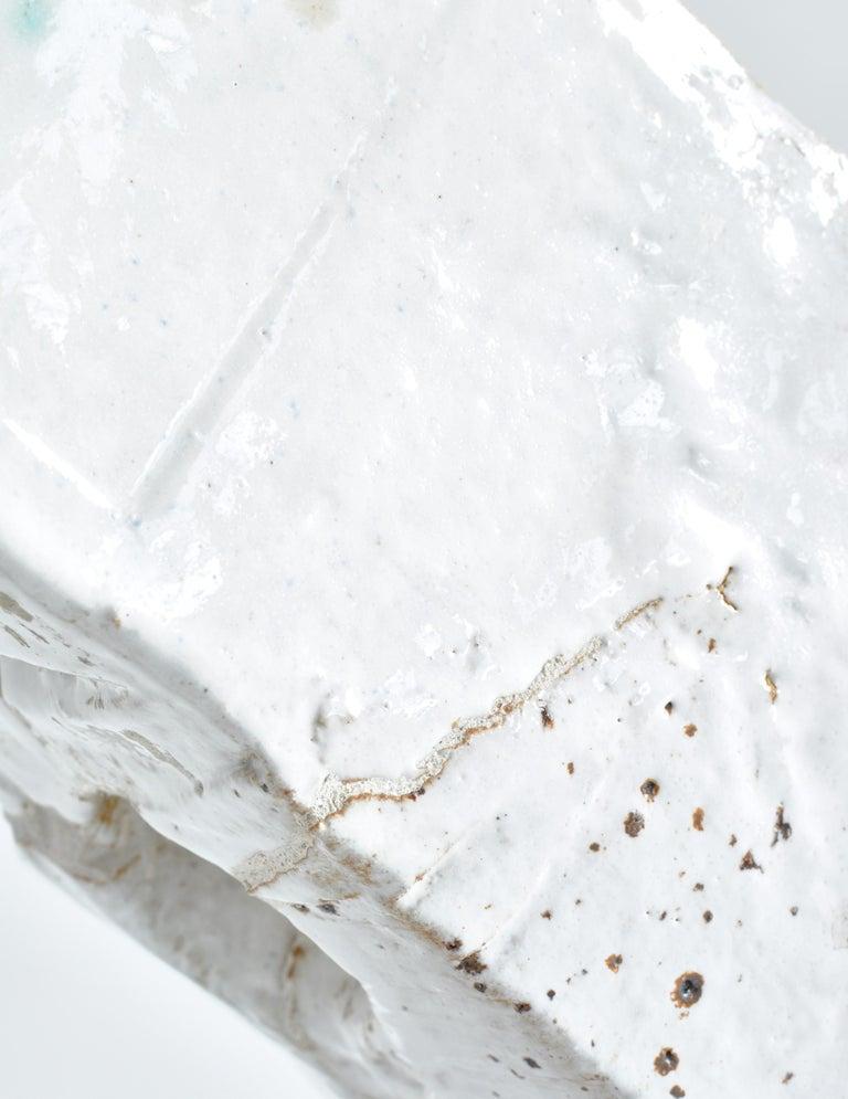 White Stoneware Sculpture by Ole Bjørn Krüger from Own Studio, Denmark, 1960s For Sale 8