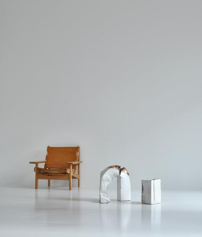 White Stoneware Sculpture by Ole Bjørn Krüger from Own Studio, Denmark, 1960s For Sale 11