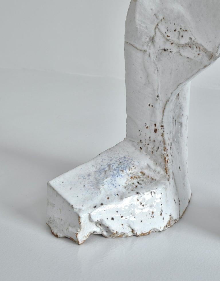 White Stoneware Sculpture by Ole Bjørn Krüger from Own Studio, Denmark, 1960s For Sale 1