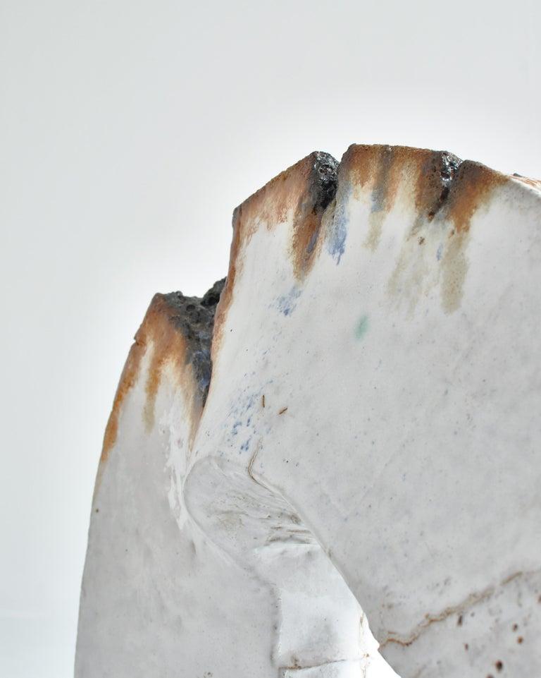 White Stoneware Sculpture by Ole Bjørn Krüger from Own Studio, Denmark, 1960s For Sale 4