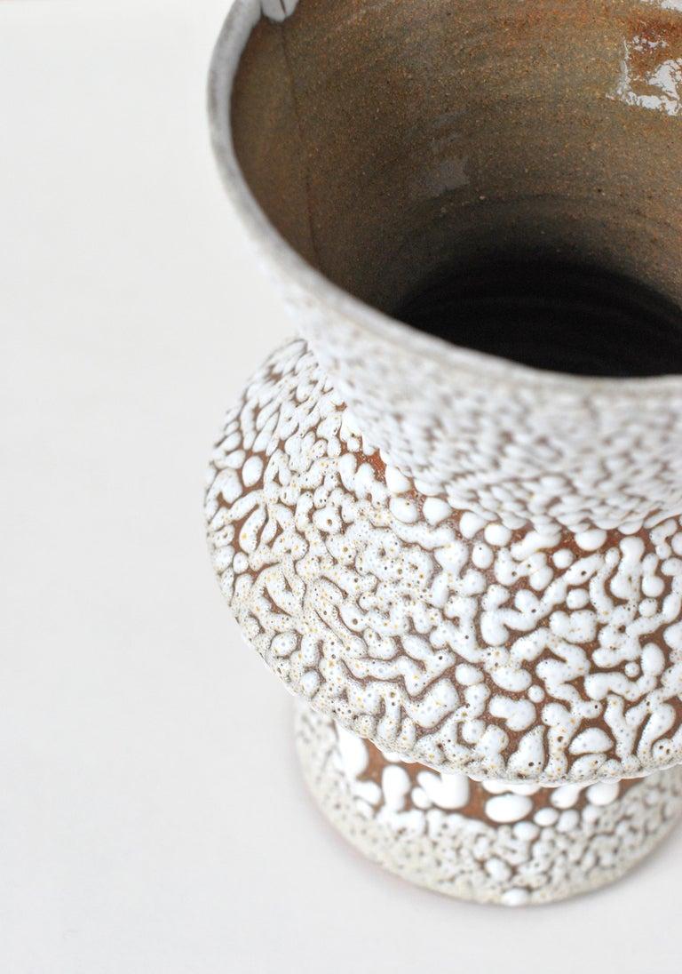Modern White Stoneware Vase by Moïo Studio For Sale