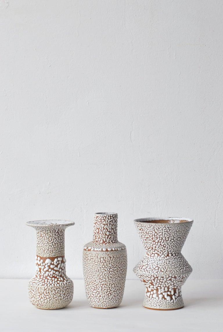 Contemporary White Stoneware Vase by Moïo Studio For Sale