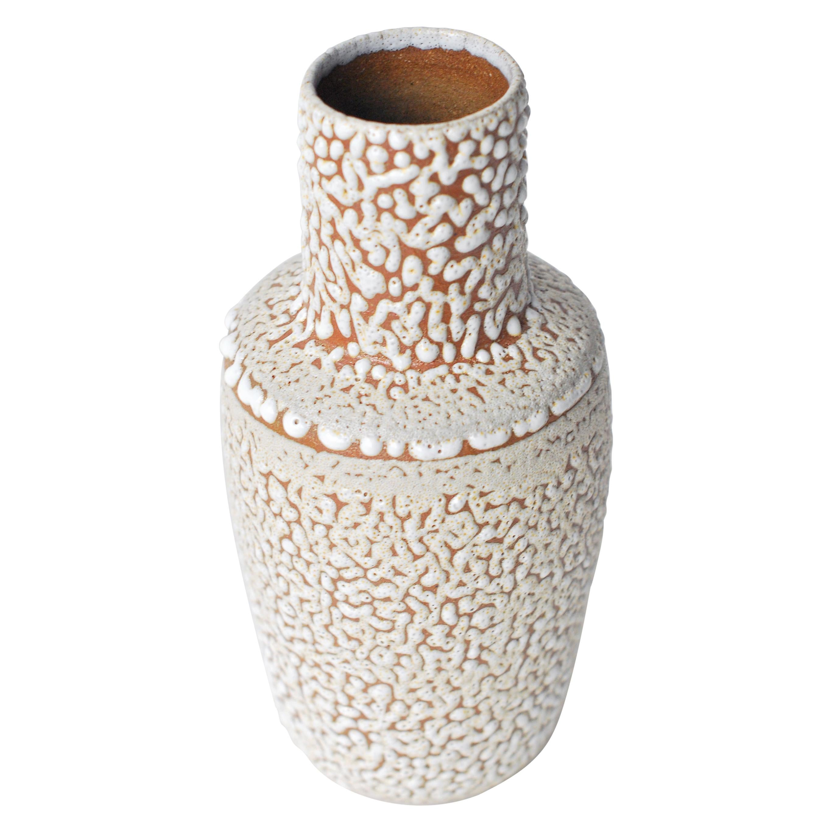 White Stoneware Vase by Moïo Studio