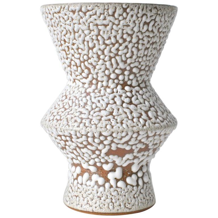 White Stoneware Vase by Moïo Studio For Sale