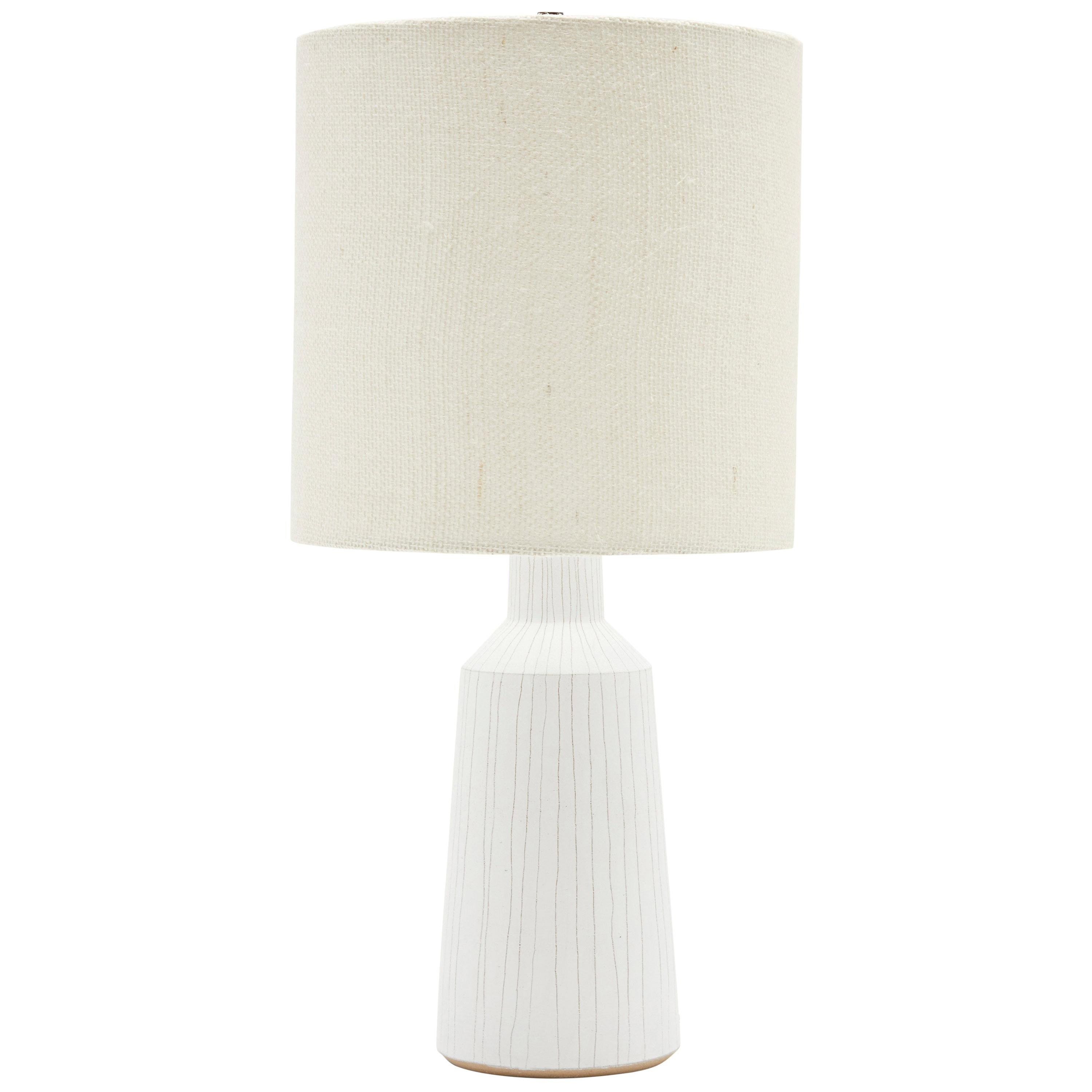 White Striped Lamp by Victoria Morris for Lawson-Fenning