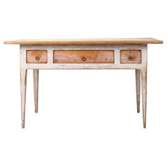 White Swedish Gustavian Provincial Country Table