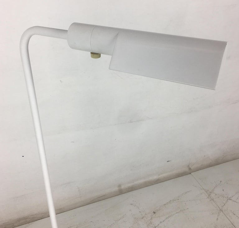 White swivel head Pharmacy Lamp by Casella Lighting In Good Condition For Sale In San Leandro, CA