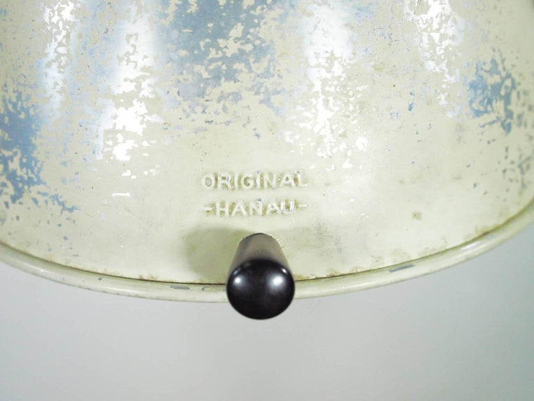White Table Lamp Made from 1940s Sunlamp In Good Condition For Sale In Madrid, ES