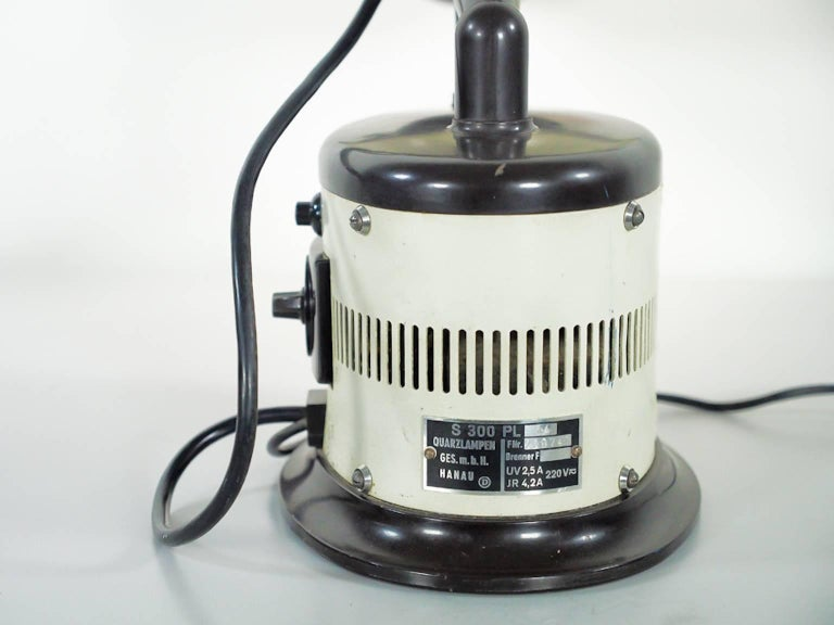 White Table Lamp Made from 1940s Sunlamp For Sale 1