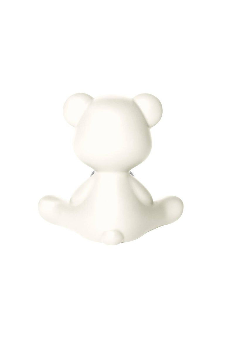Plastic White Teddy Bear Lamp LED, Made in Italy For Sale