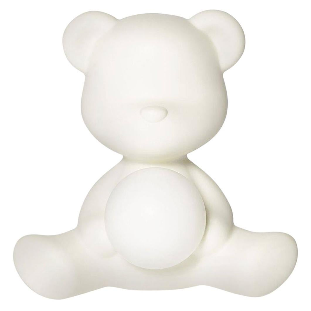 White Teddy Bear Lamp LED, Made in Italy
