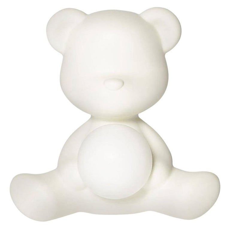 White Teddy Bear Lamp LED, Made in Italy For Sale
