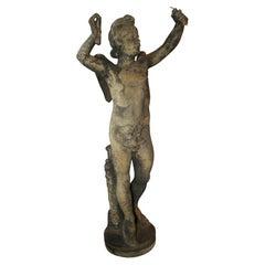 White Terra Cotta Statue Of Eros
