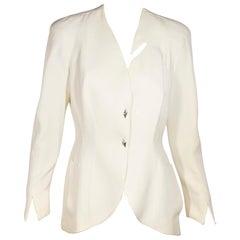 White Thierry Mugler Modern Jacket