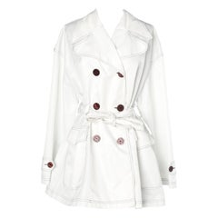 White trench-coat Dolce & Gabbana Jeans