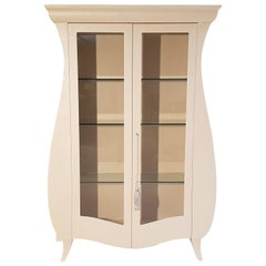 White Tulip Vitrine Cabinet, Limited Edition