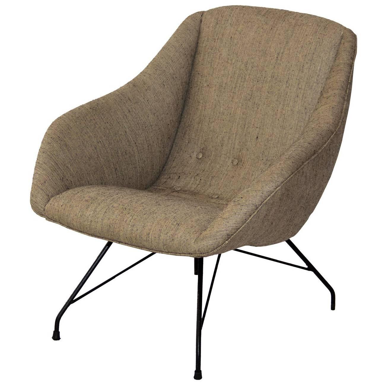 Carlo Hauner and Martin Eisler Midcentury brazilian armchair, 1955