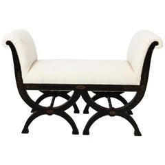 White Upholstered Bench