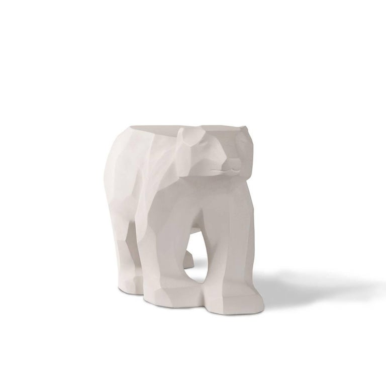 This piece was inspired by the polar bear, a Classic Canadian icon. Its form is reminiscent of the purity and beauty of arctic glaciers and striking winter landscapes. Pieces are designed for interiors, but will tolerate careful exterior usage.