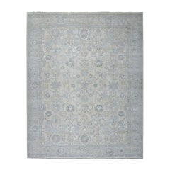 White Wash Peshawar Pure Wool Hand Knotted Oriental Rug