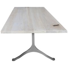 White Washed Maple Wishbone Table by Mark Jupiter
