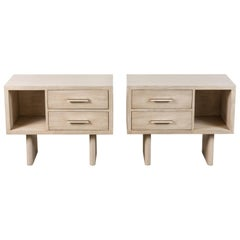 White Washed Oak Inverness Nightstands by Lawson-Fenning