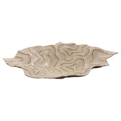 White with Gold Coral Motif Porcelain Bowl, Italy, Contemporary