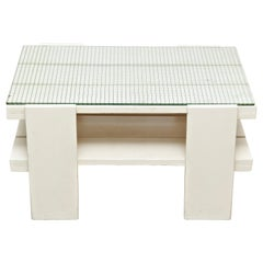 White Wood Mid-Century Modern Table in the Style of Gerrit Rietveld, circa 1950