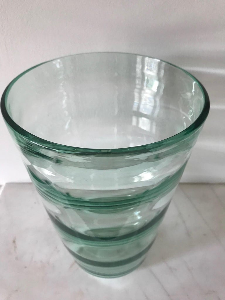 Glass Whitefriars Vase, circa 1957 For Sale