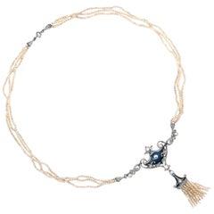 Whiteside & Blank Edwardian Seed Pearl Necklace