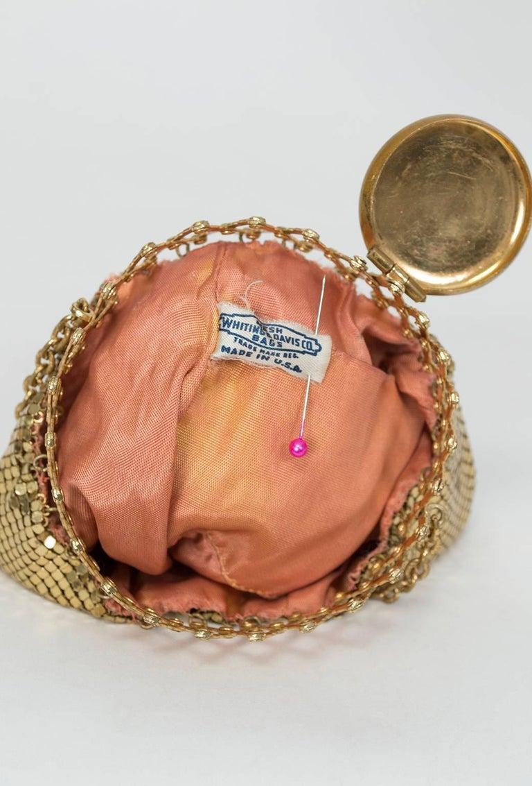 Women's Whiting & Davis Gold Mesh Beggar's Purse, 1930s For Sale