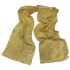 Whiting and Davis 1970s Gold Mesh Scarf