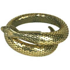 Whiting and Davis Coiled Snake Bracelet