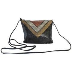 Whiting and Davis Color Block Metal Mesh Bag 1970s