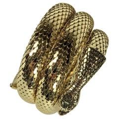 Whiting Davis Coiled Snake Bracelet