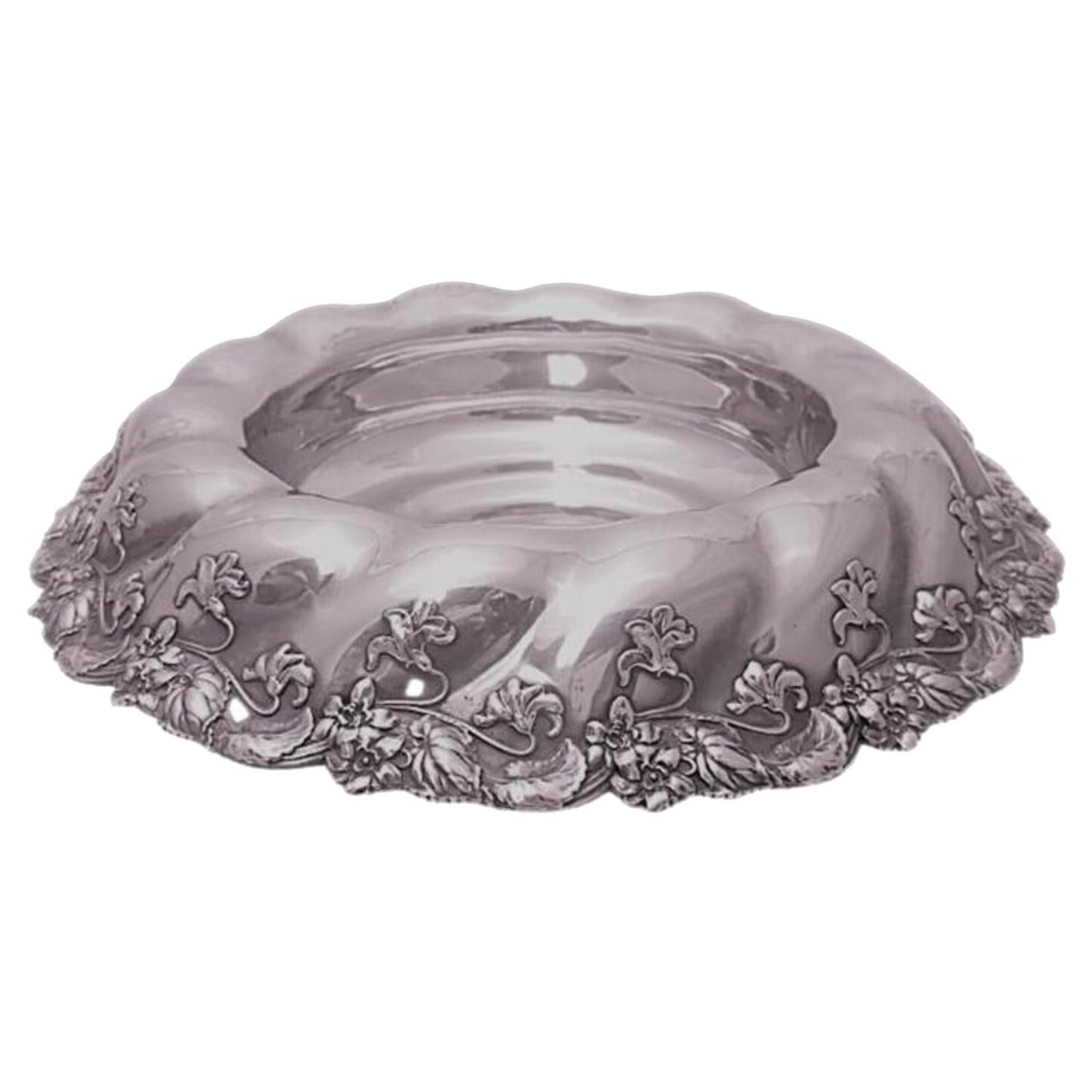 Whiting Sterling Silver Centerpiece/Fruit Bowl Circa 1905 in Art Nouveau Style