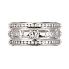 Whitney Boin 2.68 Carat Platinum Diamond Wedding Band Ring