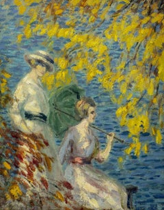 Afternoon by the Water by Whitney Myron Hubbard (1875-1965, American)