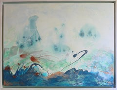 Oceana Playground - Contemporary Abstract (Blue + White + Red)