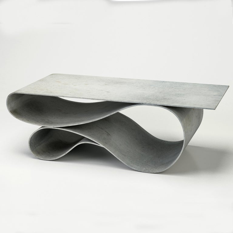 Modern Whorl Coffee Table, From the Concrete Canvas Collection, by Neal Aronowitz For Sale