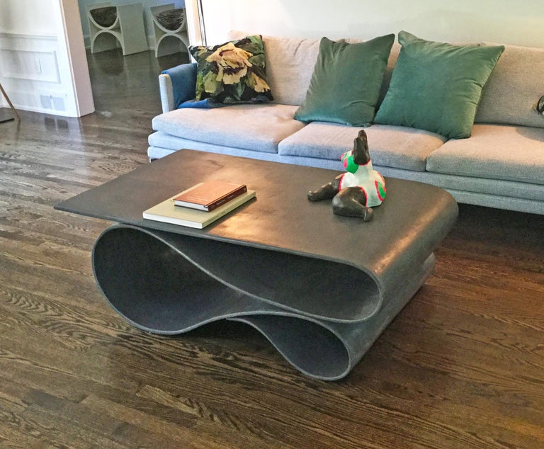American Whorl Coffee Table, From the Concrete Canvas Collection, by Neal Aronowitz For Sale