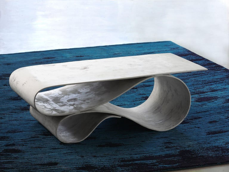 Hand-Crafted Whorl Coffee Table, From the Concrete Canvas Collection, by Neal Aronowitz For Sale