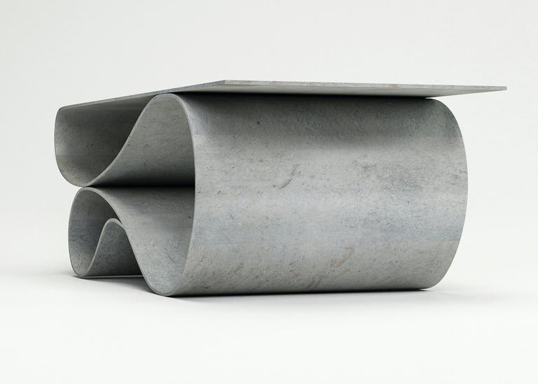 Whorl Coffee Table, From the Concrete Canvas Collection, by Neal Aronowitz In Excellent Condition For Sale In Portland, OR