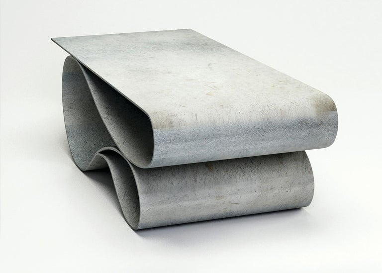 Contemporary Whorl Coffee Table, From the Concrete Canvas Collection, by Neal Aronowitz For Sale