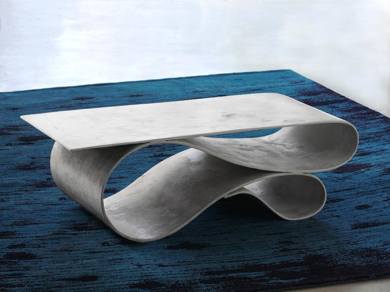 Whorl Coffee Table, From the Concrete Canvas Collection, by Neal Aronowitz For Sale 1