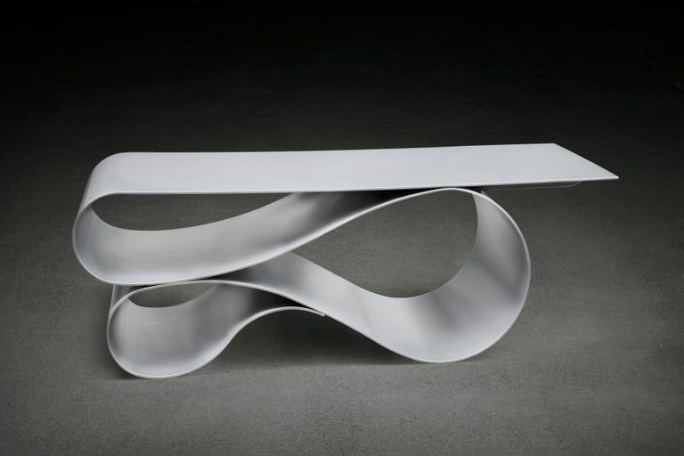 Whorl Coffee Table, in Powder Coated Aluminum by Neal Aronowitz In New Condition For Sale In Portland, OR